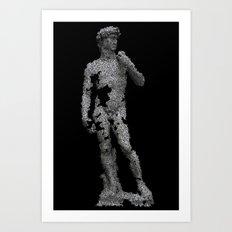 David, fractured. Art Print