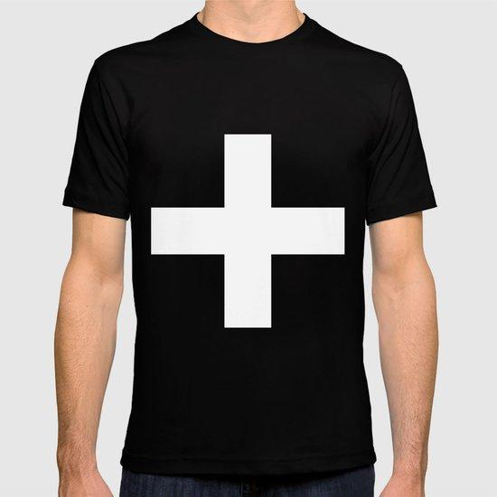 White Plus on Black /// www.pencilmeinstationery.com T-shirt