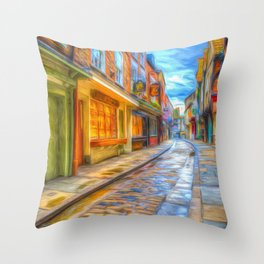 Medieval Shambles York Art Throw Pillow