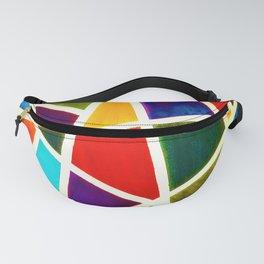 Broken glass pattern - Rainbow Geometric Shapes Fanny Pack