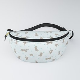 Polka Dot Cats in Blue Fanny Pack
