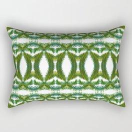 Palm Leaf Kaleidoscope (on white) #2 Rectangular Pillow