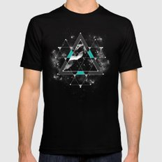 Time & Space Mens Fitted Tee X-LARGE Black