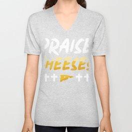 Cheese and Jesus design, Christian gift design Unisex V-Neck