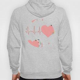 Flower ECG Hearts Hoody