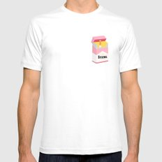 drama X-LARGE White Mens Fitted Tee