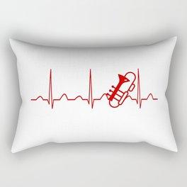 TROMBONE HEARTBEAT Rectangular Pillow