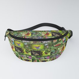 Butterfly Collage Fanny Pack