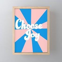 Choose Joy Framed Mini Art Print