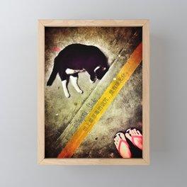Love Me Please Framed Mini Art Print