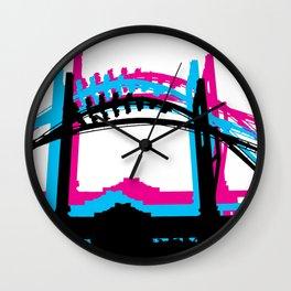 Rad Roller Coaster Design Wall Clock