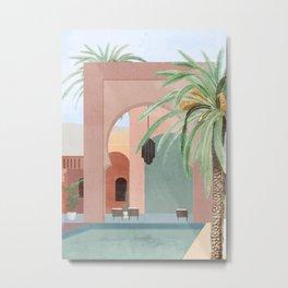 Moroccan Pool Metal Print