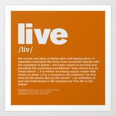 definition LLL - Live 10 Art Print