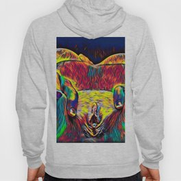 881-HW Abstract Pop Color Erotica Explicit Psychedelic Yoni Pearl in Pussy Hoody
