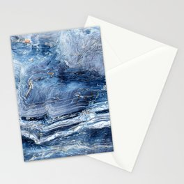 """Travel & nature photography """"details of a rock in blue colors. Abstract fine art mineral print.  Stationery Cards"""