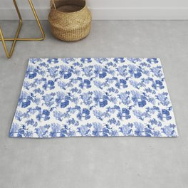 Classic French Toile Countryside Deer Pattern Rug
