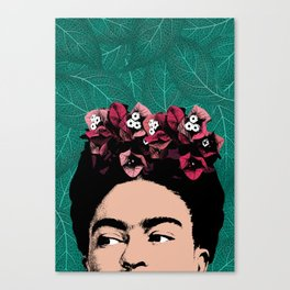 Floral Frida Canvas Print