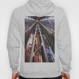 Street view from subway platform Hoody