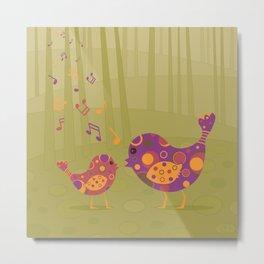 Bird Duet Metal Print