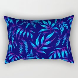 Brooklyn Forest - Blue Rectangular Pillow