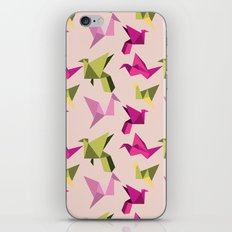 pink paper cranes iPhone & iPod Skin