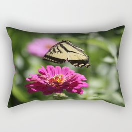 Colorful Swallowtail Butterfly Flying Rectangular Pillow