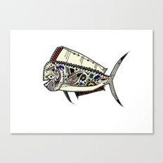 Mahi Mahi color Canvas Print