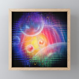 Abstract in perfection 113 - Space and time Framed Mini Art Print