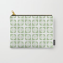 Mid Century Modern Pattern 272 Nile Green Carry-All Pouch