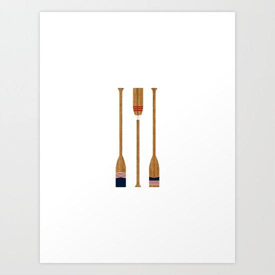 American Painted Oars Art Print