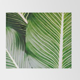 Big Leaves - Tropical Nature Photography Throw Blanket