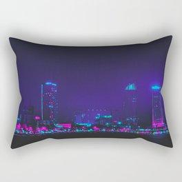 Future Skyline Cyberpunk City Rectangular Pillow