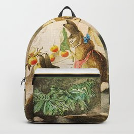 Bunnies roasting apples over an open fire Backpack