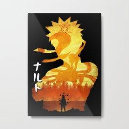 Minimalist Silhouette Hero Metal Print
