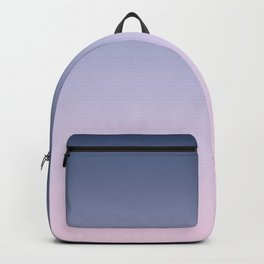 Blue Lilac Millennial Pink Ombre Gradient Pattern Backpack
