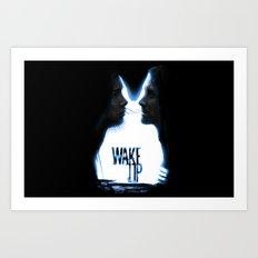Wake up.....(Donnie Darko Fanart) Art Print