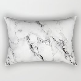 White Marble Texture Rectangular Pillow