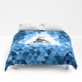 Blue Bjj Triangle choke. Jiu-jitsu grappling Comforters