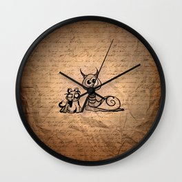 Pouch & Slimy Wall Clock