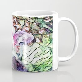 Mushrooms and Trees in Spring | Saletta Home Decor Coffee Mug