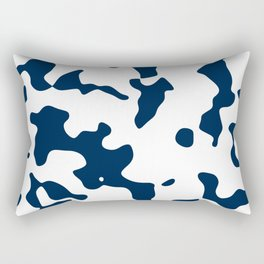 Large Spots - White and Oxford Blue Rectangular Pillow