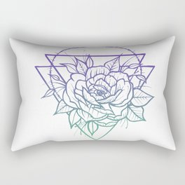 Crown Of Thorns - Purple To Teal Rectangular Pillow