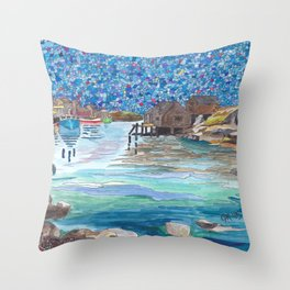 In the Cove Throw Pillow