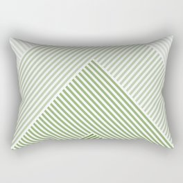 Shades of Green Abstract geometric pattern Rectangular Pillow