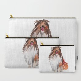 watercolor dog vol1 collie Carry-All Pouch
