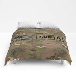Military: Sniper (Camo) Comforters