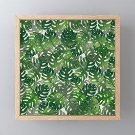 Exotic Palm Leaf Pattern Framed Mini Art Print