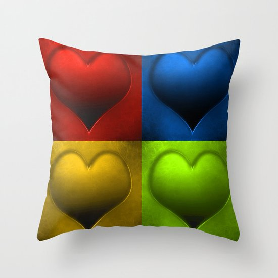 Hearts 2 Throw Pillow