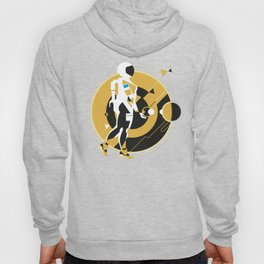 space girl, astronaut girl in space, concept illustration, science fiction Hoody