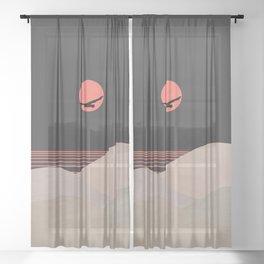 Minimal Sunset 14 Sheer Curtain